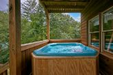 Cabin with private deck and 2 hot tubs