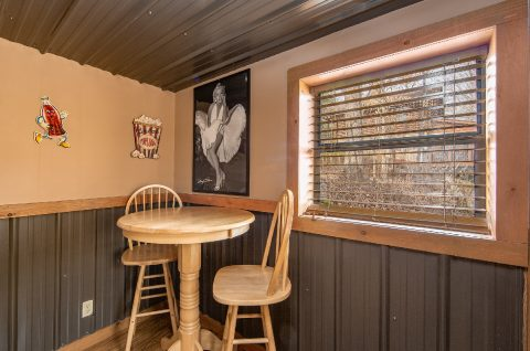 Pub Table in Game Room - Tin Pan Alley