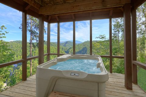 Private Hot Tub with Views 2 Bedroom Cabin - Tip Top