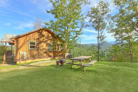Picinic Table and Fire Pit 2 Bedroom Cabin - TipTop