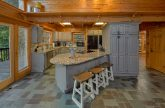 Luxurious kitchen in 6 bedroom cabin rental
