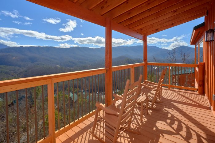 Great Smoky Mountain Cabin with Panoramic Views - TrinQuility View