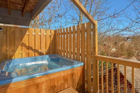 3 bedroom cabin with private hot tub on deck - Up to Nut'n