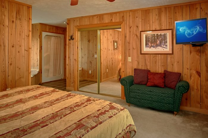 Honeymoon Cabin with Large King Bedroom - Valley View