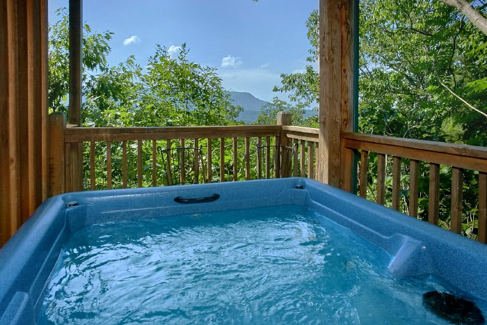 Rustic Cabin with Private Outdoor Hot Tub - Valley View