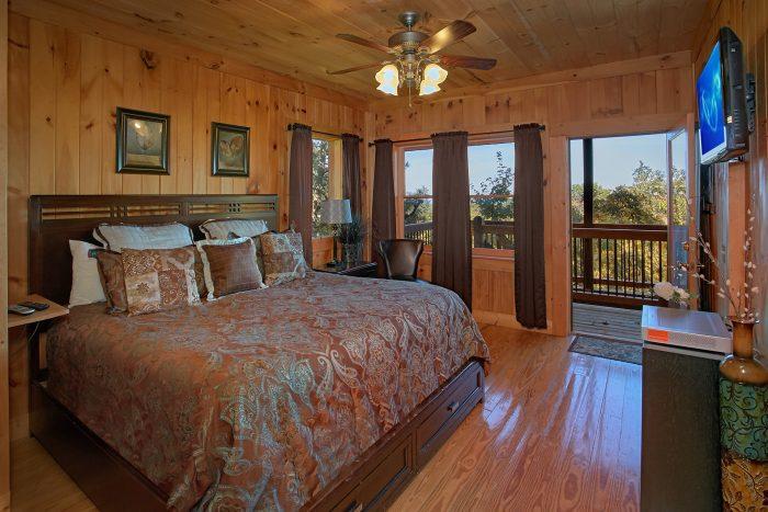 2 Master Suite 3 Bedroom Cabin Sleeps 12 - View Topia Falls