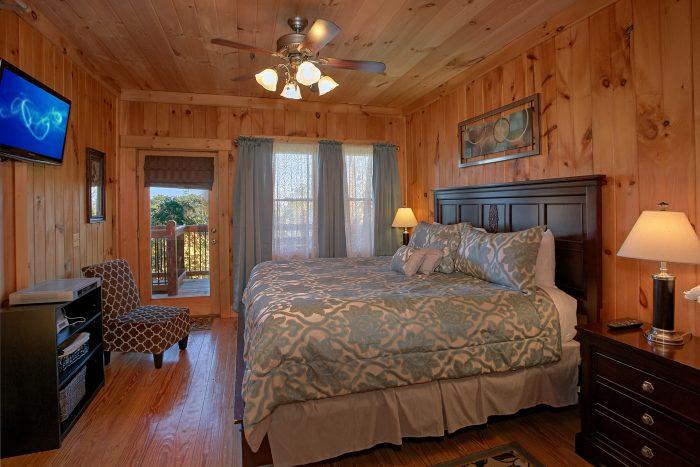 Luxurious Master Suite 3 Bedroom Cabin - View Topia Falls
