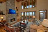 Living Area with floor to ceiling fireplace