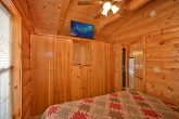 Cabin with large closets in master bedroom