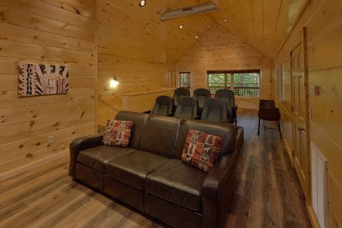Theater Room in Luxury 4 Bedroom Cabin - Whistling Dixie