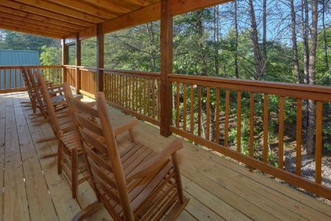 Covered Porch with Hot Tub and Chairs - Whistling Dixie