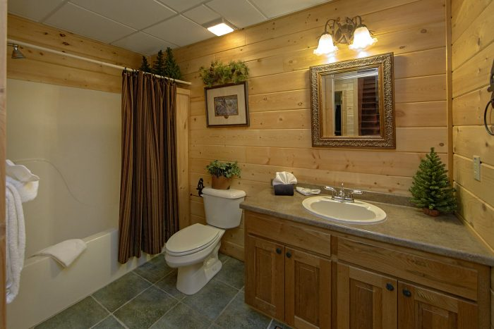 Private Bath attached to Master Bedroom in cabin - Wilderness Lodge