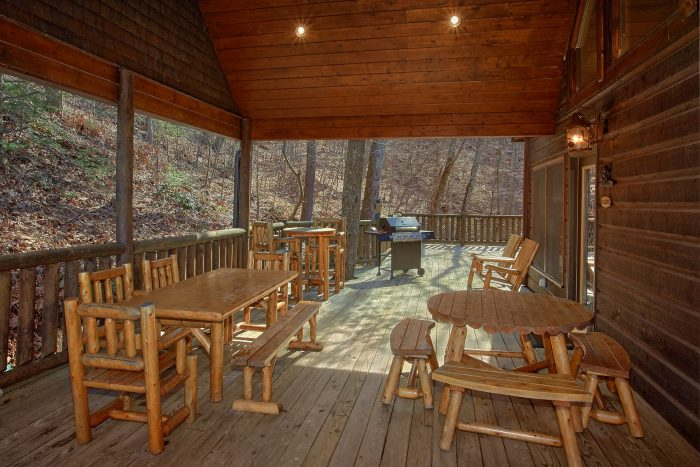 6 Bedroom Cabin with Gas Grill and Covered Deck - Wilderness Lodge