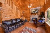 Cabin with Furnished Living Room and Fireplace