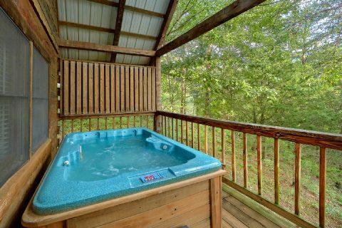 Private Hot Tub Honeymmon Cabin - Wildflower Haven