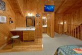 Honeymoon Cabin with Cozy Hot Tub on deck